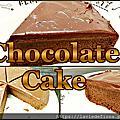 巧克力蛋糕加上巧克力醬