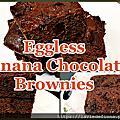 無蛋香蕉巧克力布朗尼