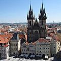 橙紅屋瓦的布拉格