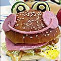 愛心造型便當-火腿青蛙漢堡 2011-1110