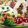 愛心造型便當-桂冠包子金選在地食材好美味-桂冠包子便當2012-0312