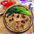 美國米-糙米(越光米)-洋地瓜香腸炊飯 2015-1203