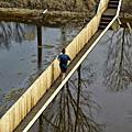 大家有見過比水面還低的橋嗎?