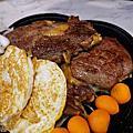 台南北區牛排推薦牛排11武聖夜市附近附自助沙拉吧肉品百分百原肉不用重組肉,整片吃最威花少少的錢就能享有40多種品項