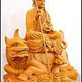 地藏王菩薩-帶騎地聽藝術作品(台灣檜木90/68公分高)