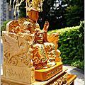 特大神椅-雙龍麒麟/五福進財神明椅(軟身神明訂製)