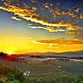 新竹三峰的日出