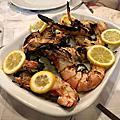 葡萄牙 第一天 午餐 烤大蝦烤小卷
