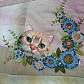 貓咪娃娃 拚布緞帶繡 珍藏筆記書