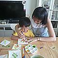 蔬菜圖案拓印20120819上課情形