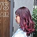 VS.hair-秋季染髮(挑染咖啡紫加紅)