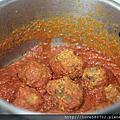 茄汁肉丸鳥巢麵