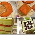 食譜*紅豆抹茶慕斯紅蛋糕