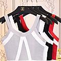2017夏裝新款短款露背針織衫吊帶背心上衣