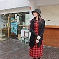 紅黑格紋洋裝