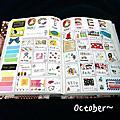  手帳分享 2013,十月月記事