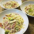 1021114 奈潔拉試做之義大利燉麵、青花菜和培根