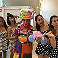 高雄草衙道光陽機車小丑氣球表演