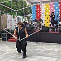 台南建案氣球佈置+小丑表演+特技表演立方體表演
