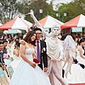 台南市政府集體結婚愛神丘比特行動雕像表演~奇美博物館