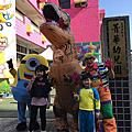 高雄保進文教開幕活動小丑氣球+小小兵迎賓+充氣暴龍迎賓