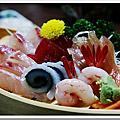 8/30 民宿岩田館 海の幸鮮魚舟盛 (晚餐)