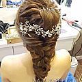 孟茹線條編髮結婚造型