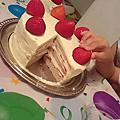 有機自製草莓蛋糕