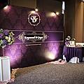 寒舍艾美-時尚深紫色婚禮佈置