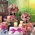 世貿33-Tiffany+粉紅色系婚禮佈置