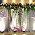 台北美福飯店-紫粉色系佈置