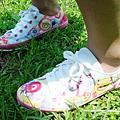蛙哈哈手繪帆布鞋