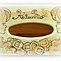 我愛燒烙 面紙盒-童話Q版四小美女