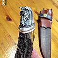 島田英承之馬頭柄狩獵刀
