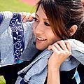 風‧藍銀 - 銀纖維毛浴巾