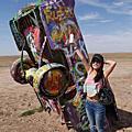 2014。美國公路之旅-8 Cadillac Ranch, MIDPOINT!! Santa Fe