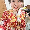 嘉義新娘文訂單妝~瘦瘦。喜歡這樣的禮服文定