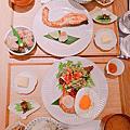 【台北中山排隊美食 小器食堂(中山店)】龍田楊炸雞塊超好吃的!特製鮭魚簡餐 肉桂冰淇林深得我心