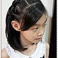 仿新娘頭紗菱狀格紋造型