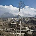 印尼火山爆發後的景象