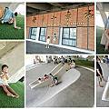 【宜蘭。冬山】冬山火車站下假草皮碗公溜滑梯 避暑親子好去處