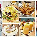 【台北。大同】Woosaパンケーキ屋莎鬆餅屋(京站店)夢幻雲朵冰沙+雲朵鬆餅+超邪惡起士和牛堡