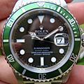 ROLEX 16610LV 全新綠水鬼 M字頭 有防偽內圈
