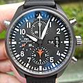 IWC TOPGUN陶瓷雙秒追針計時錶、錶徑46mm