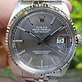 ROLEX 勞力士 16014 DATE JUST 漂亮的灰色立體條紋面盤