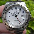 ROLEX 16570探險家2號 白色面盤 A字頭 盒單俱全
