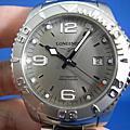 Longines 浪琴 HydroConquest潛水錶 防水300米 銀色面盤 45mm大錶徑