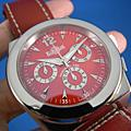 EUROPEAN COMPANY WATCH (ECW) 計時錶 紅色面盤 46mm大錶徑