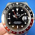 ROLEX 勞力士 16710 GMT-MasterⅡ 蠔式恆動日曆格林威治Ⅱ 紅黑圈 盒單俱全