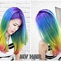 髮色-彩虹髮色